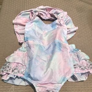 Boutique Remake Pink/Blue Romper